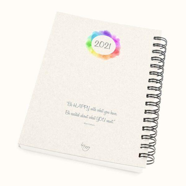 4 Happy U 2021 Schedule Planner & Gratitude Journal back cover