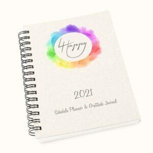 4 Happy U 2021 Schedule Planner & Gratitude Journal